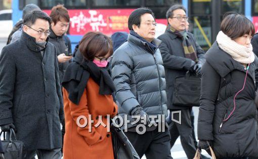 [포토]추위 속 출근길