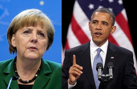 (왼쪽부터) 앙겔라 메르켈 독일 총리와 버락 오바마 미국 대통령