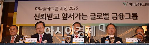 [포토]2025 비전 밝히는 김정태 하나금융회장