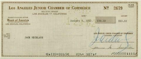 """[골프토픽] 니클라우스 """"52년 전 첫 상금은 33달러?"""""""