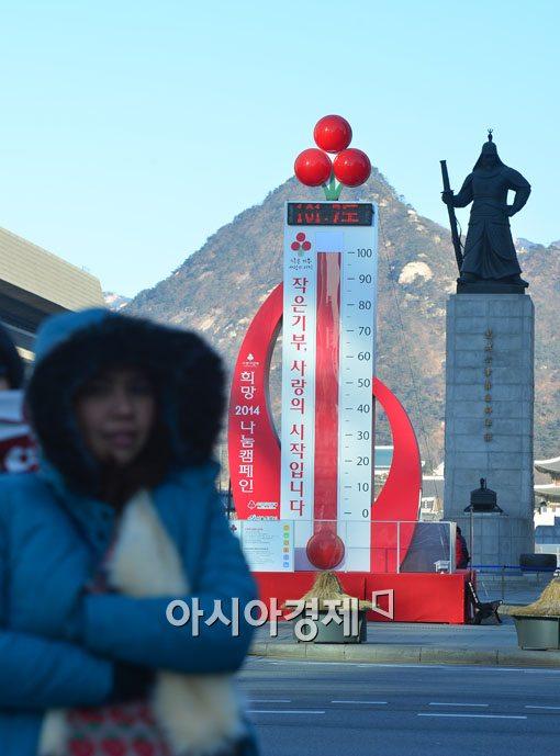 [포토]사랑의 온도탑, 역대 최고 모금액 기록중