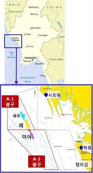 대우인터내셔널 미얀마 해상광구도.