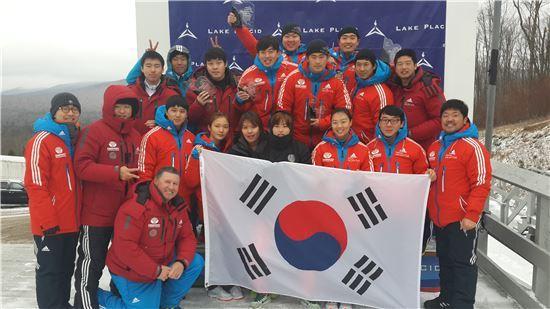 한국 봅슬레이 대표팀[사진=대한봅슬레이스켈레톤경기연맹 제공]