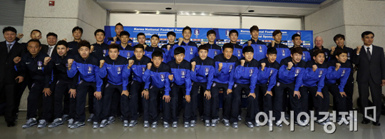 [포토] 전지훈련 떠나는 축구국가대표팀