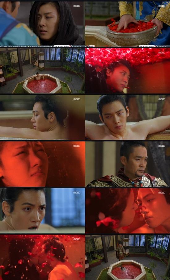 '기황후' 하지원-지창욱, 절체절명 위기서 '꽃잎 키스' 나눴다