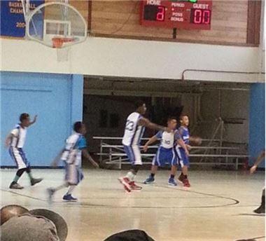 ▲188cm 11살 농구 선수.(출처: 온라인 커뮤니티)