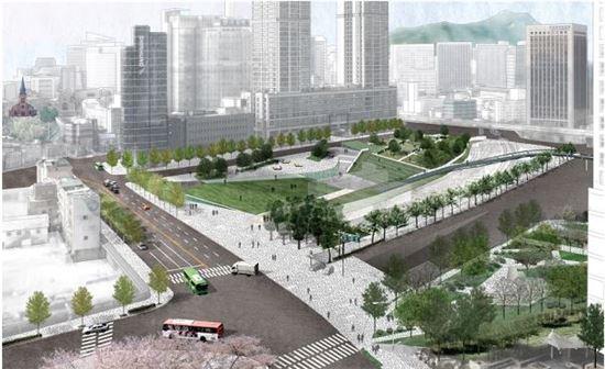 서울역 일대 서소문공원, 역사공원으로 재탄생