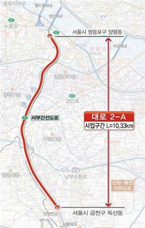 서부간선도로 지하화 공사 구간 / 서울시