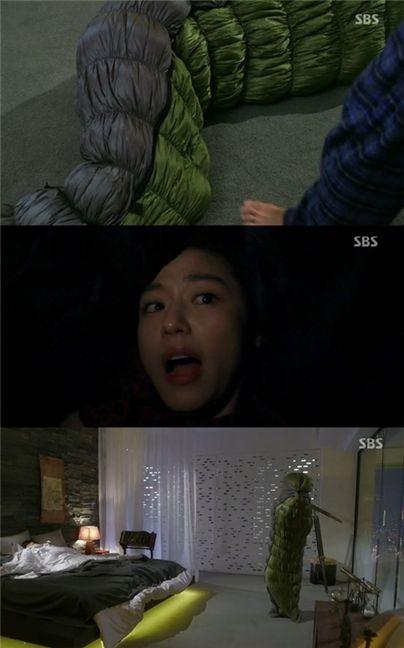 ▲전지현 애벌레 굴욕.(출처: SBS '별에서 온 그대' 방송 캡쳐)