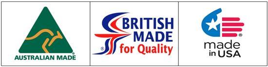 ▲국가원산지 브랜드 해외 사례. 왼쪽부터 호주, 영국, 미국.