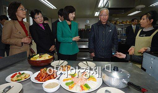 [포토]여성취업.창업 현장방문한 현오석··조윤선