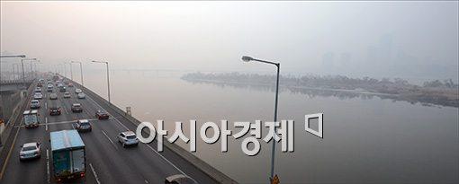 [포토]미세먼지에 갇힌 서울
