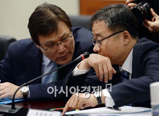 [포토]최종구-정찬우, '무슨 대화 중?'