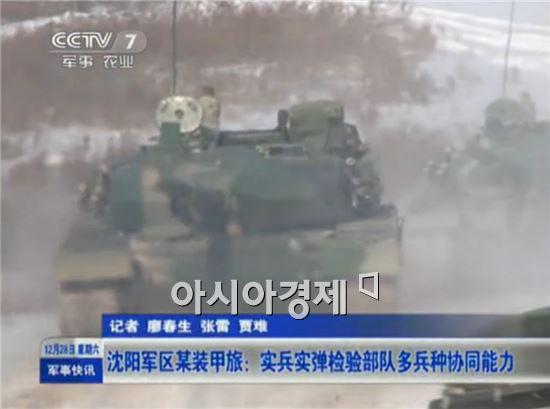 中 백두산훈련 당시 공개한 최신예 전차