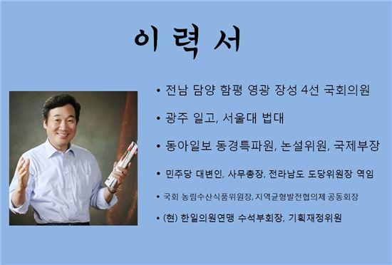 """이낙연 의원,  """"혁신 전남도지사 되겠다"""""""