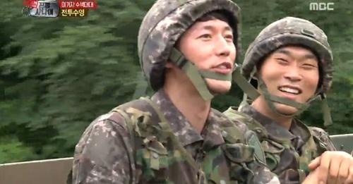 ▲장혁(왼쪽) 하차.(출처: MBC '진짜사나이' 방송화면 캡처)