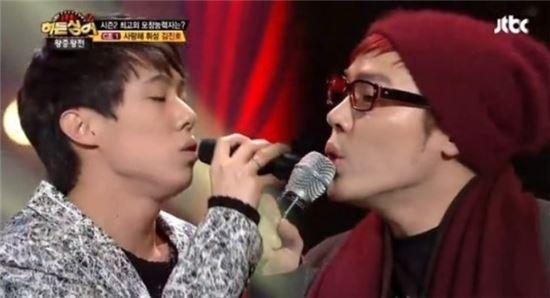 ▲김진호.(출처: JTBC '히든싱어2' 캡처)