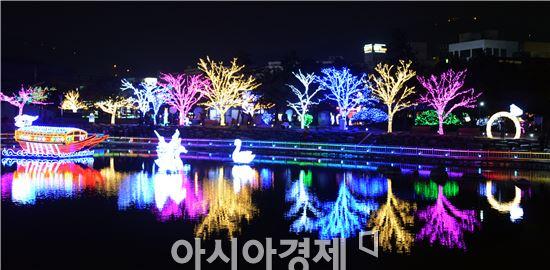 """[포토]화려한 은하수등 밝힌 여수 """"빛노리야 """"축제"""