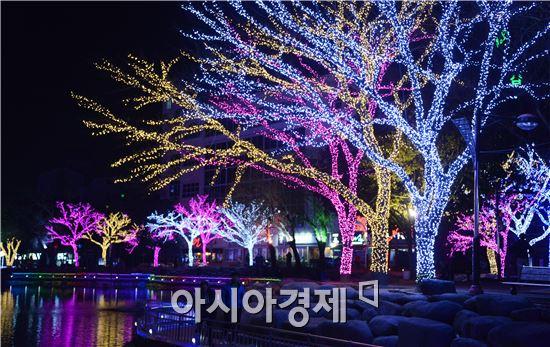 [포토]여수 빛노리야 축제 화려한 불빛, 관광객유혹