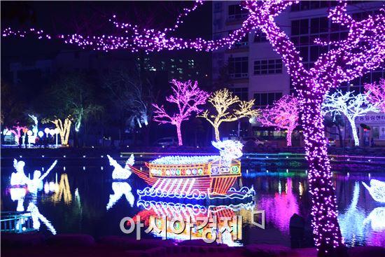 """[포토]겨울축제로 자리잡은 여수 '빛노리야 축제"""""""