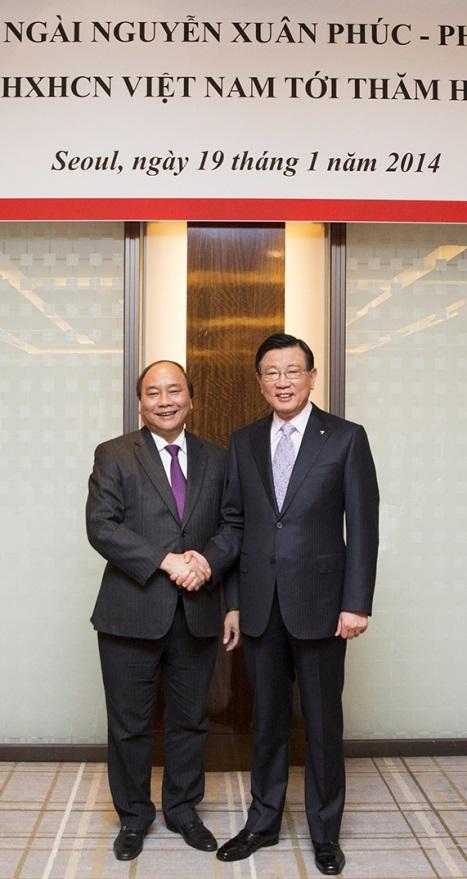 박삼구 회장, 베트남 응웬 쑤언 푹 부수상과 환담