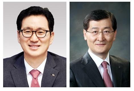 심재오 KB국민카드 대표, 위성호 신한카드 대표(왼쪽부터).