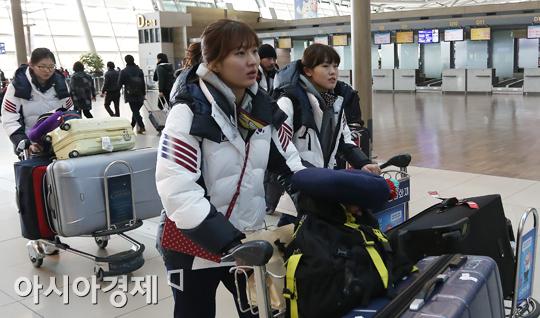 [포토] 전지훈련 떠나는 쇼트트랙 대표팀