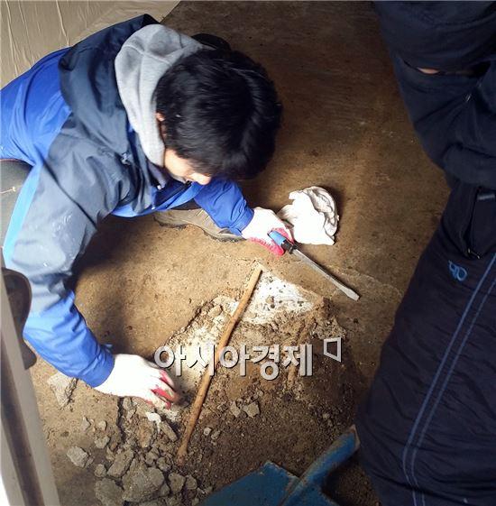 함평군 나산면, 자원봉사 열기 '후끈'
