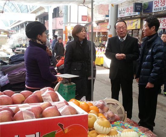 정대표 한국소비자원장, 충남 전통시장 방문