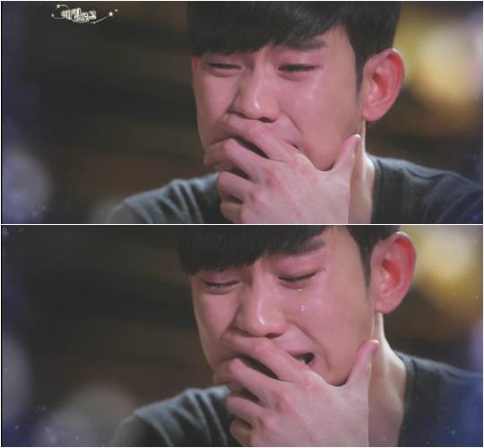 ▲김수현 눈물.(출처: SBS '별에서 온 그대' 방송영상 캡처)