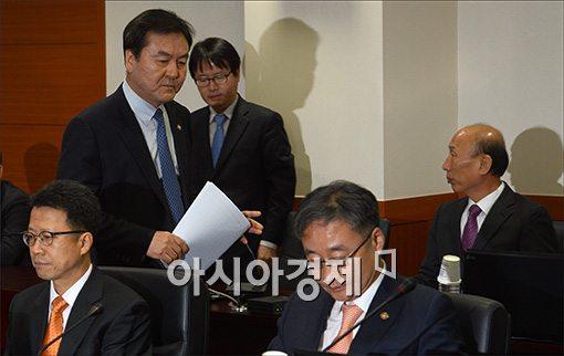 [포토]임시 금융위원회 참석하는 신제윤 위원장