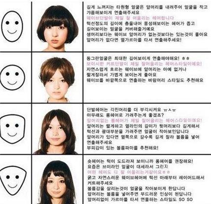 ▲얼굴형에 어울리는 헤어.(출처: 온라인 커뮤니티)