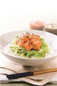 연어회 비빔밥