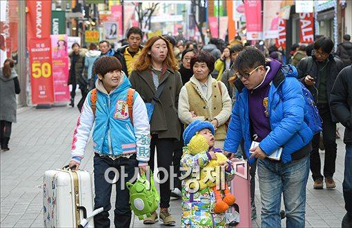 [포토]춘절연휴, 한국 찾은 중국인 관광객들