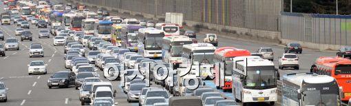 [포토]막히는 고속도로