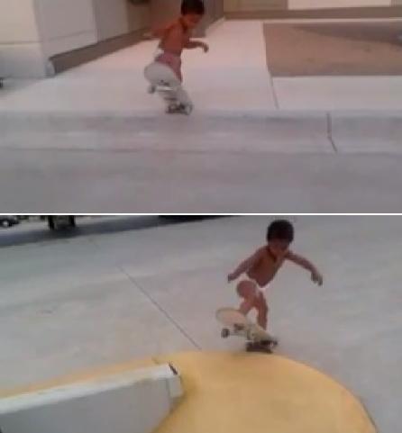 2살 스케이트 보더(출처:유튜브)