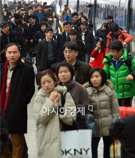 [포토]귀경객들로 붐비는 서울역