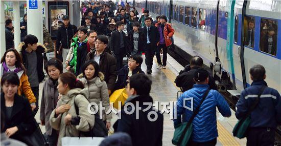 [포토]설 연휴 마지막 날, 붐비는 서울역