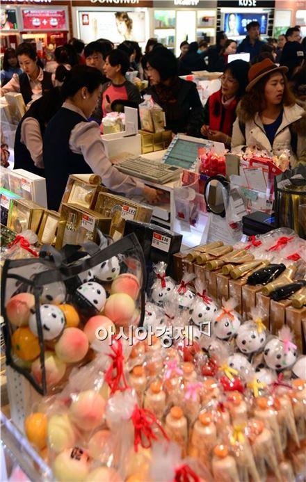 [포토]춘절, 쇼핑하는 중국인들