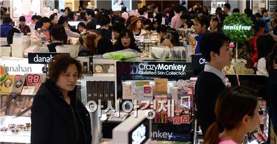 [포토]중국인들로 붐비는 면세점