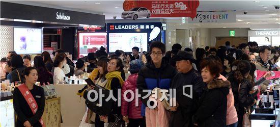 [포토]춘절, 중국인들로 붐비는 면세점