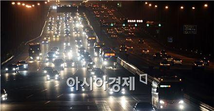 [포토]돌아오는 귀경 차량들