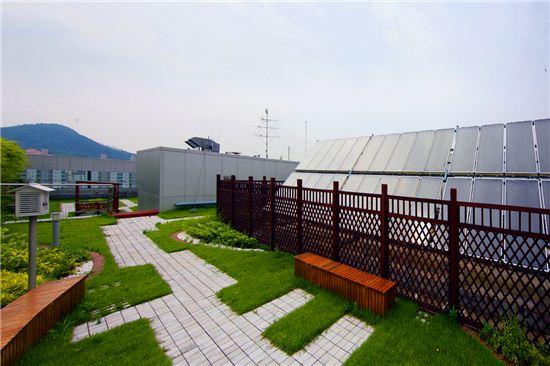 금천구청사 옥상 태양광 시설