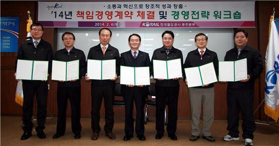 코레일 광주본부 본부장-처장간 책임경영계약 체결