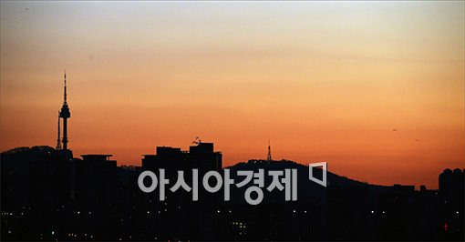[포토]서울 남산의 일출