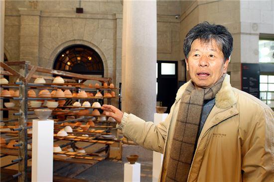 민영기 작, '찻사발', 산청요, 환원소성, 2008-2009년.