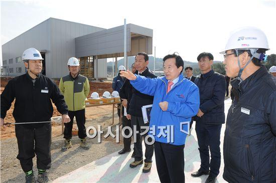 [포토]강운태 광주시장,  KTX 호남고속철도 건설현장 방문