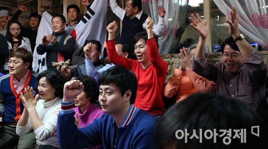 [포토] 이상화 응원하는 가족들