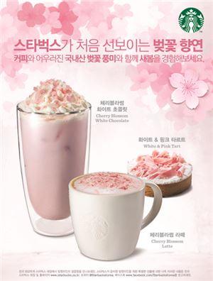 스타벅스, 벚꽃 관련 '신메뉴·텀블러' 출시