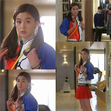 ▲전지현 고등학생 변신.(출처: SBS '별에서 온 그대' 방송영상 캡처)